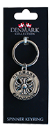 SPINNER KEYRING - CELTIC SHIELD (D) (6)