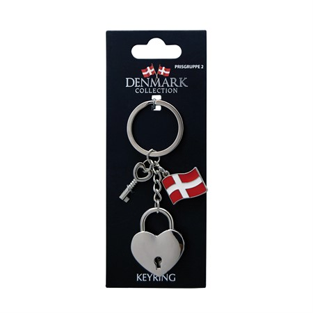 KEYRING DENMARK 3D HEART LOCKER (6)