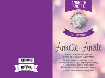 LUCKY CARD ANNETTE-ANETTE