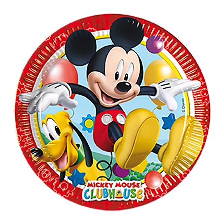 PAPER PLATE 23 CM MICKEY 8-P