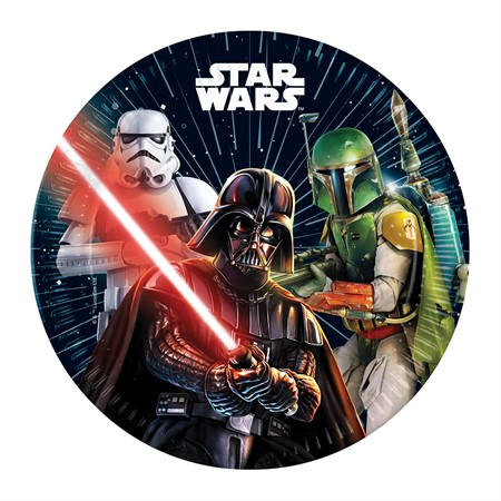 PAPER PLATE 23 CM STAR WARS 8-P
