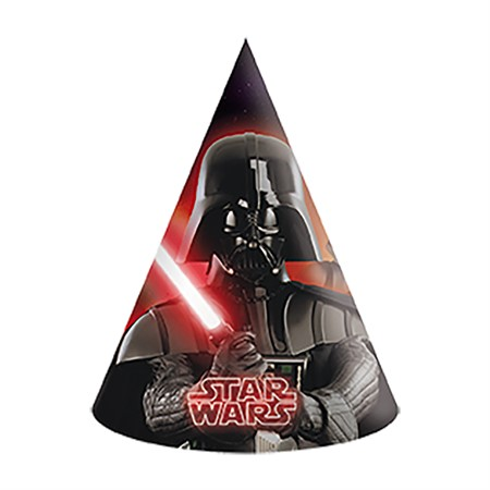 PARTY HAT STAR WARS 6-P