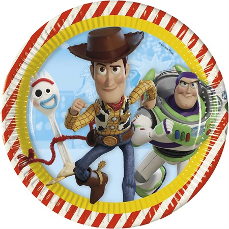 PAPER PLATE 23 CM TOY STORY 4 8-P