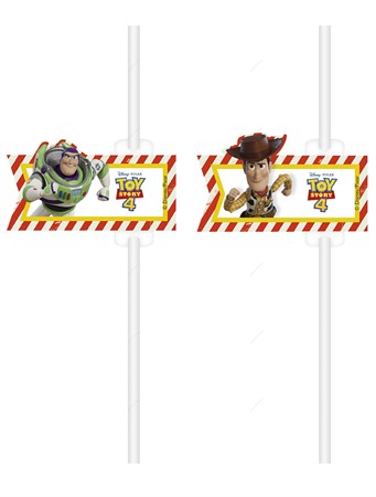 PAPER STRAWS TOY STORY 4 4-P