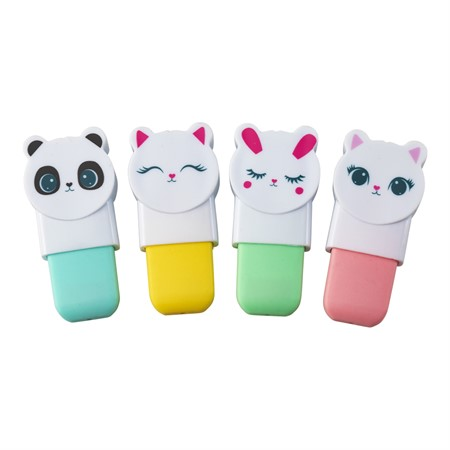 HIGHLIGHTER PEN CUTE ANIMALS 4-P