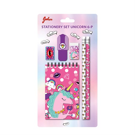STATIONERY SET UNICORN 6-P