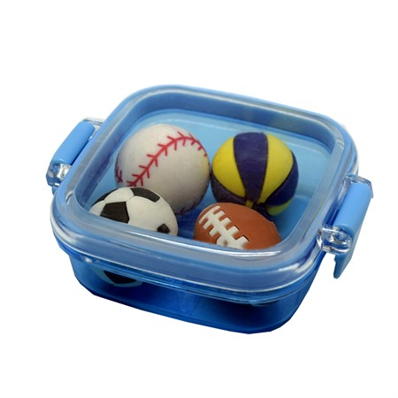 ERASERS SPORT BALLS 4-P DISPLAY