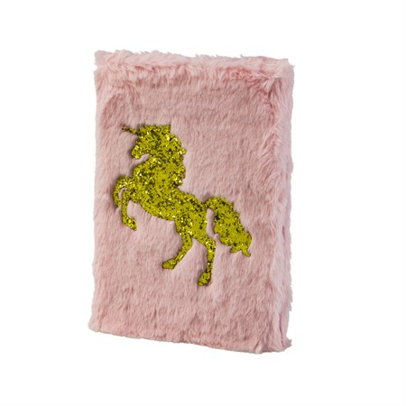 NOTEBOOK PLUSH GOLD UNICORN (6)