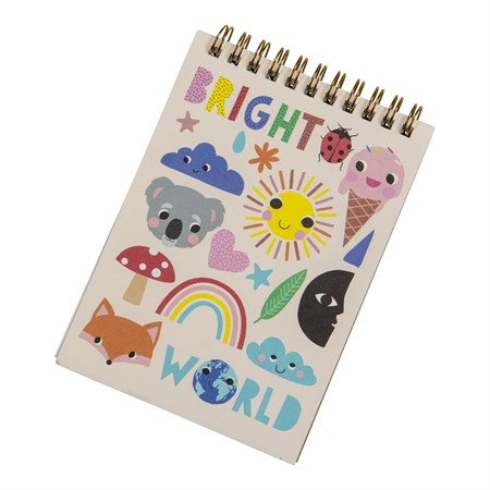 SPIRAL NOTEBOOK BRIGHT WORLD