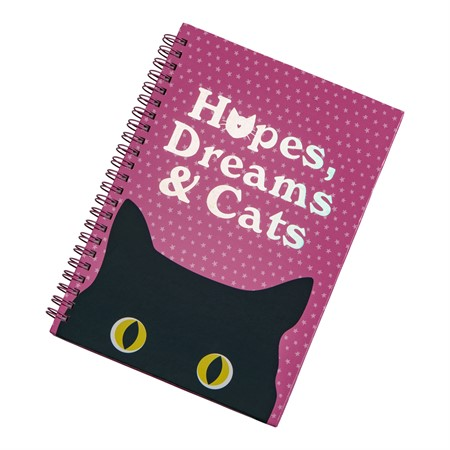 SPIRAL NOTEBOOK HOPES, DREAMS & CATS