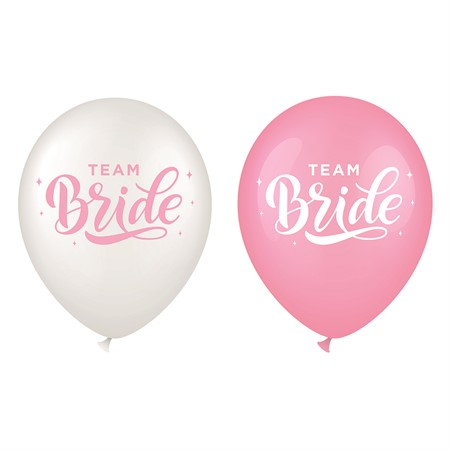 "BALLOONS 12"" TEAM BRIDE 6-P (6)"