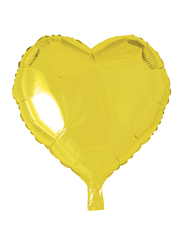 FOIL BALLOON HEART YELLOW 46 CM (6)