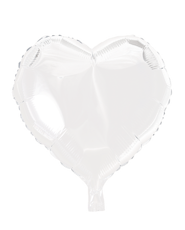 FOIL BALLOON HEART WHITE 46 CM (6)