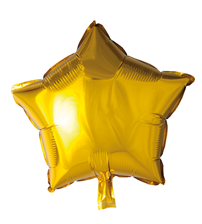 FOIL BALLOON STAR GOLD 46 CM (6)