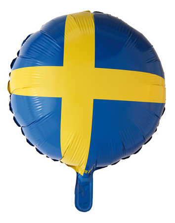 FOIL BALLOON ROUND SWEDEN  (6)
