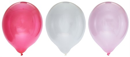 "BALLOONS 12"" METALLIC PINK MIX 8-PACK (6)"