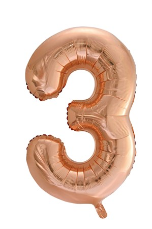 FOIL BALLOON NUMBER 3 ROSE GOLD 86 CM (6)
