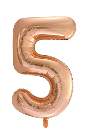 FOIL BALLOON NUMBER 5 ROSE GOLD 86 CM (6)