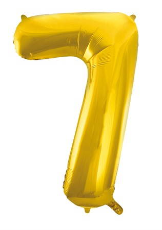FOIL BALLOON NUMBER 7 GOLD 86 CM (6)