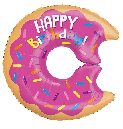 FOIL BALLOON HAPPY BIRTHDAY DONUT 71 CM (6)