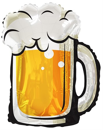 FOIL BALLOON BEER GLASS 91 CM (6)