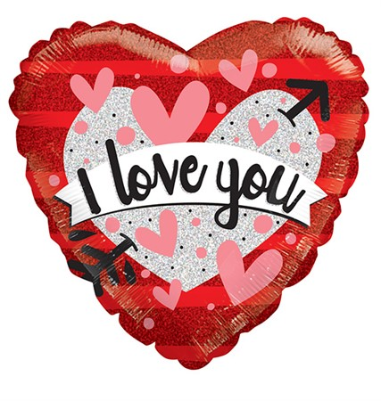FOIL BALLOON I LOVE YOU HEART AND BANNER 46 CM (6)