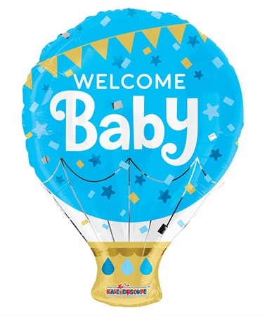 FOIL BALLOON WELCOME BABY BLUE 46 CM (6)