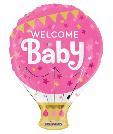 FOIL BALLOON WELCOME BABY PINK 46 CM (6)