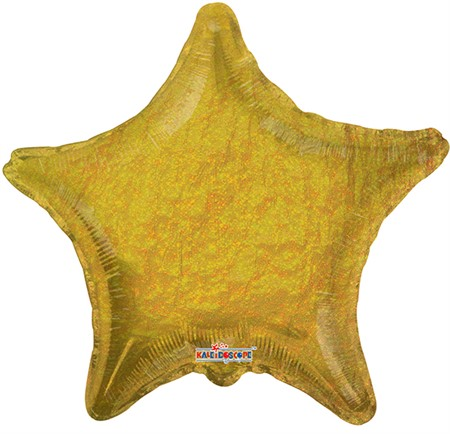 FOIL BALLOON HOLOGRAPHIC STAR GOLD 56 CM (6)