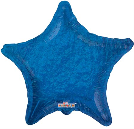 FOIL BALLOON HOLOGRAPHIC STAR BLUE 56 CM (6)