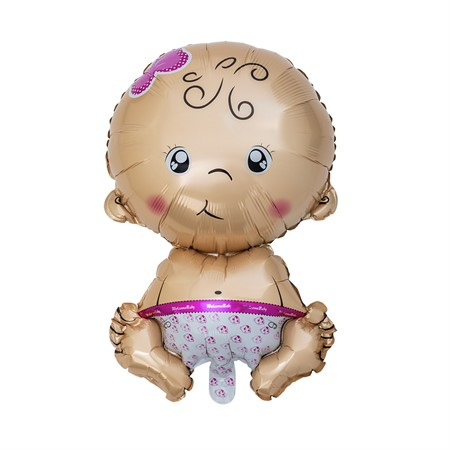 FOIL BALLOON SITTING BABY PINK (6)