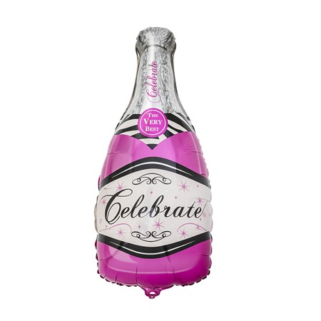 FOIL BALLOON BOTTLE PINK 100 X 50 CM (6)
