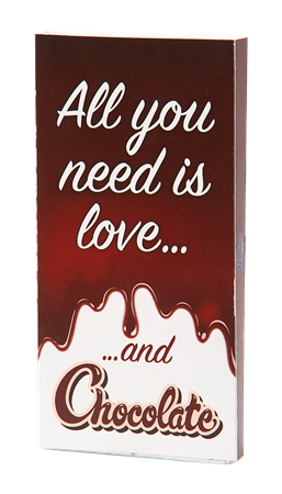 CHOCOLATE BAR ALL YOU NEED IS LOVE