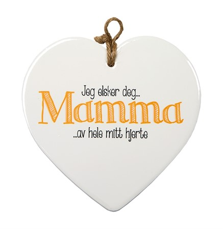 "MESSAGE HEART ""MAMMA"" (N) (3)"