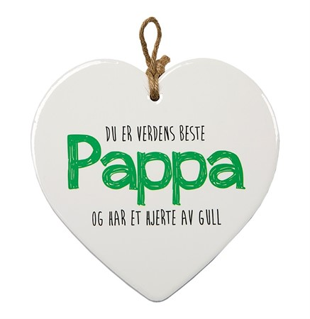 "MESSAGE HEART ""PAPPA"" (N) (3)"