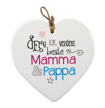 "MESSAGE HEART ""MAMMA & PAPPA"" (N) (3)"