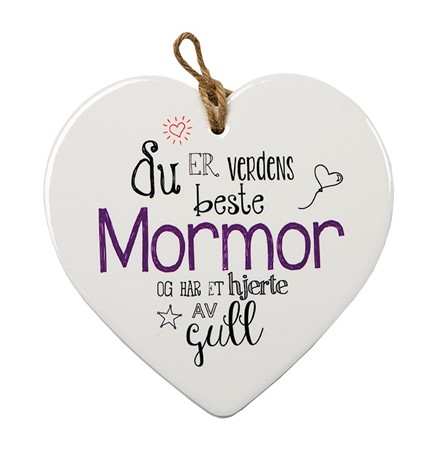 "MESSAGE HEART ""MORMOR"" (N) (3)"