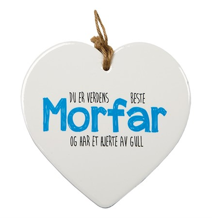 "MESSAGE HEART ""MORFAR"" (N) (3)"