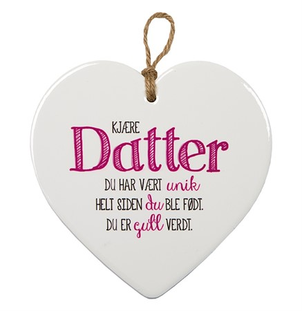 "MESSAGE HEART ""DATTER"" (N) (3)"