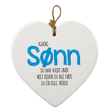 "MESSAGE HEART ""SØNN"" (N) (3)"