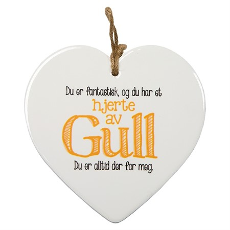 "MESSAGE HEART ""HJERTE GULL"" (N) (3)"