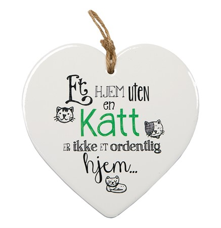 "MESSAGE HEART ""KATT"" (N) (3)"