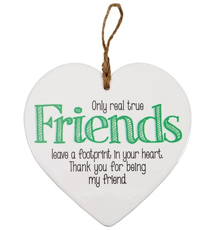 "MESSAGE HEART ""TRUE FRIENDS"" (3)"