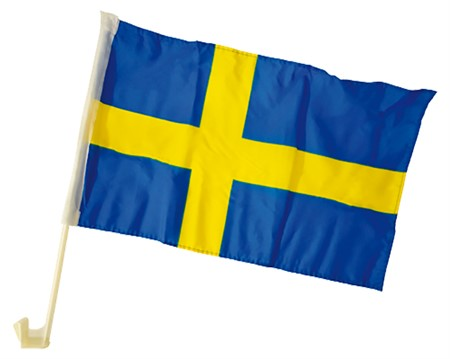 SWEDISH CAR FLAG 2-P