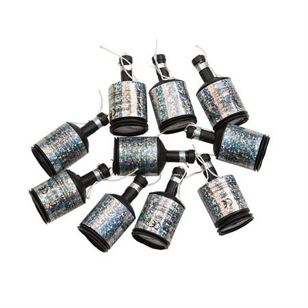 PARTYPOPPERS SILVER 8-P (10)