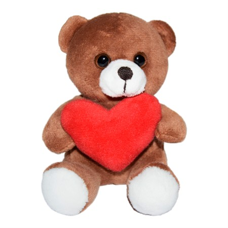 "PLUSH BEAR ""HEART"" 10 CM"