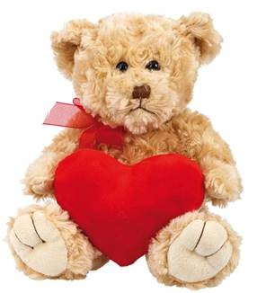 "PLUSH BEAR ""HEART"" 20 CM (6)"