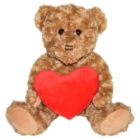 "PLUSH BEAR ""HEART"" 30 CM"