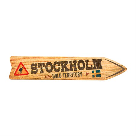 SOUVENIR SIGNS STOCKHOLM WILD TERRITORY