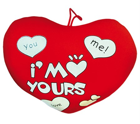 "PLUSH HEART ""I'M YOURS"" (6)"